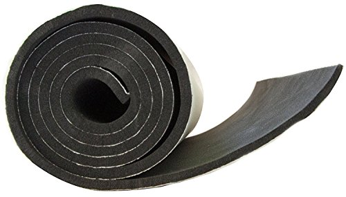 XCEL Neoprene Sponge Rubber Sheet with Adhesive 54 in x 12 in x 1/8 in (With Foam Adhesive)