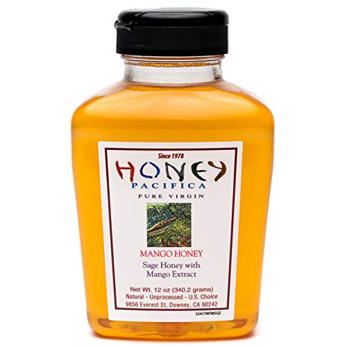 - Mango Flavored Honey - Unfiltered, Unprocessed Honey Direct From a California Beekeeper - Honey Pacifica