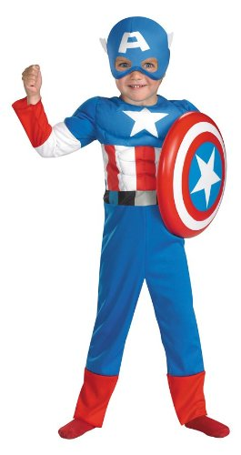 Captain America Muscle Toddler Costume (2T)