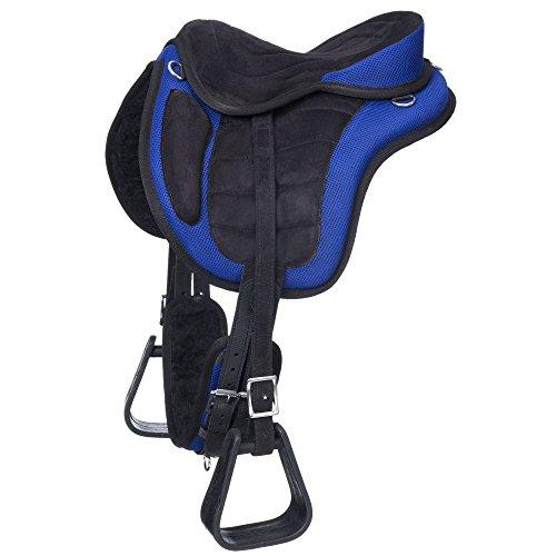 Tough 1 Western Saddle Eclipse Treeless Endurance 12″ Blue ES7512