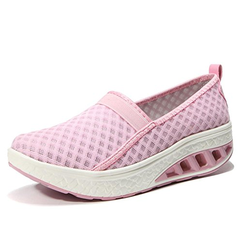 Flat Un Primavera guida Shake Slip Mocassini Donna Athletic Scarpe Platform Da Shoes Mesh Loafers Xue Fitness E Guida Autunno Sneakers Shaking zFnCAZFRW
