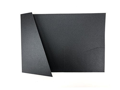 Onyx A7.5 Card Cover Tri-fold Pocket Invitations for Weddings, Birthdays, Greeting Cards - 25 pcs