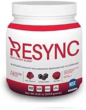 RESYNC Recovery 20 Servings Clinically Formulated, 3rd Party Tested. Nitric Oxide Booster, Circulation, Inflammatory Support, Recovery Supplement with Antioxidants, Superfoods More