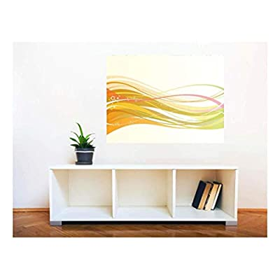 Made For You, Pretty Style, Removable Wall Sticker Wall Mural Abstract Colorful Lines Creative Window View Wall Decor