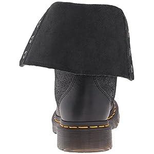 Dr. Martens Women's Hazil Boot Black Virginia Leather Boot, Black Virginia Leather, 8 Medium UK (10 US)