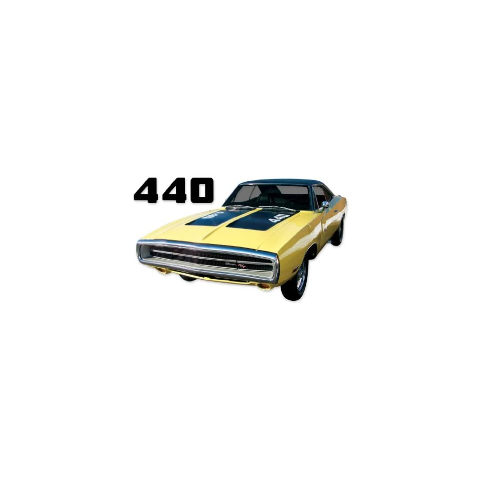 1970 Dodge Charger 440 Hood Numbers Decals Kit   RED
