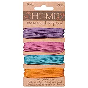 Darice Natural Hemp Cord - Pastels