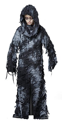 California Costumes Deluxe Ghoul Robe Costume, Large, Black/Gray (Cinderella Movie Deluxe Child Costume)