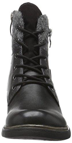 Tamaris 25110, Botas Militar para Mujer Negro (BLACK 001)