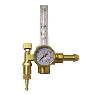 Mig/Tig Flow Meter Regulator, CO2 Argon Pressure Reducer Gauge Weld Flow meter – Full Copper For Argon Flow meters Regulators