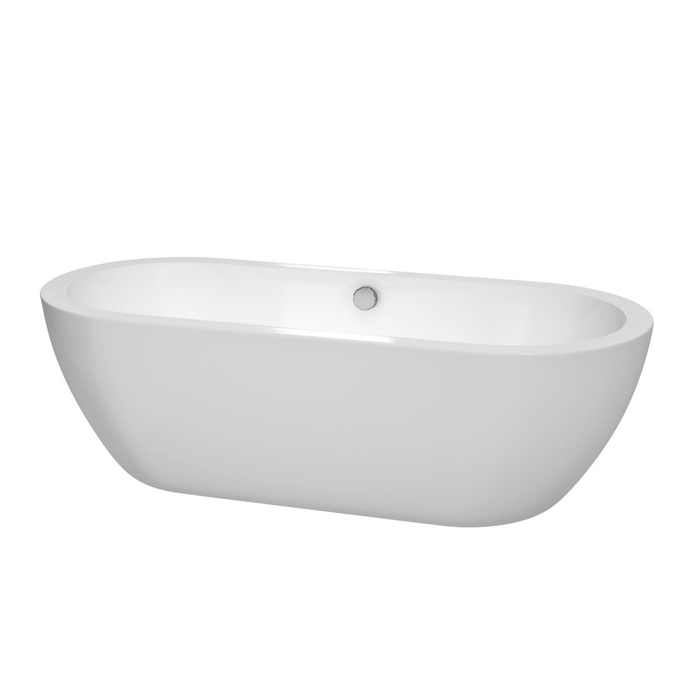 Wyndham Collection Soho 72 Inch Freestanding Bathtub For Bathroom In White  With Brushed Nickel Drain And Overflow Trim     Amazon.com