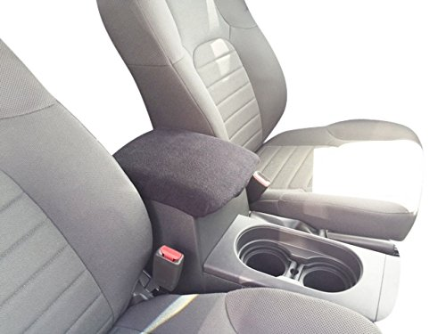 (Auto Console Covers- Compatible with The Nissan Frontier 2005-2019 Center Console Armrest Cover Fleece- Dark Gray)