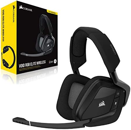 Corsair Void RGB Elite Wireless Premium Gaming Headset with 7.1 Surround Sound - Discord Certified - Works with PC, PS5 and PS4 - Carbon