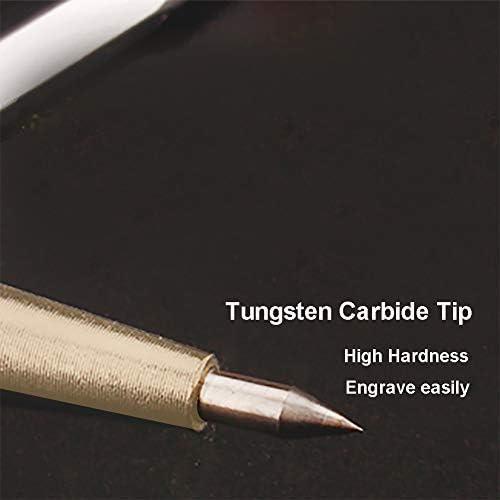 Metal Scribe Tool,Set of 2Pcs,Tungsten Carbide Tip Scriber,Engraved Pen for Glass//Wood//Ceramics//Gold