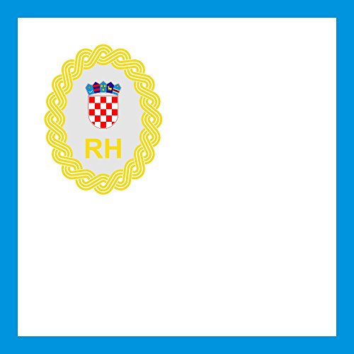 dent of The Government of The Republic of Croatia Flag | 0.06m² | 0.65sqft | 25x25cm | 10x10inch Car Flag Poles ()