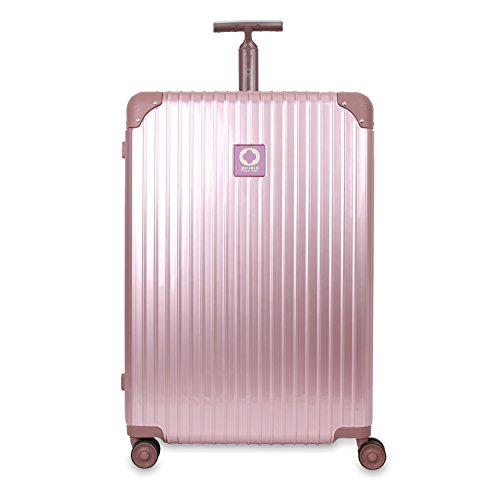 Amazon.com | J World New York Womens Slite Hardside 3 Piece Spinner Luggage Set, Rose Gold | Luggage Sets