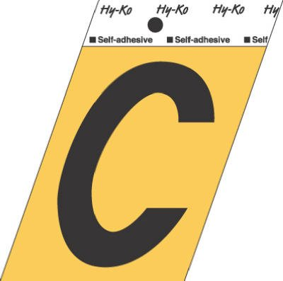 """LETTER""""C""""GOLD 3-1/2""""ALUM - GG-25-C - HY-KO PRODUCTS CO from Hy-Ko"""