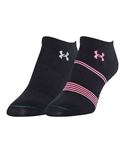 Under Armour Women's Grippy III No Show Socks, Pink Shock/As