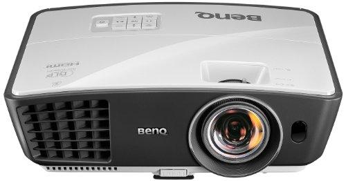 BenQ W770ST Kurzdistanz DLP-Projektor (New 3D, Kontrast 13000:1, 1280 x 720 Pixel, 2500 ANSI Lumen, HDMI, USB) weiß/grau