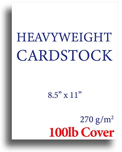 - Extra Thick Cardstock - 100lb Cover (270gsm) - Blank White 8.5 x 11 - Heavyweight Printer Paper for Inkjet/Laser - 50 Sheets Pack