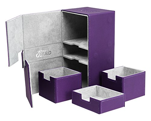 200 Card Twin Flip N Tray Xenoskin Deck Case, Purple