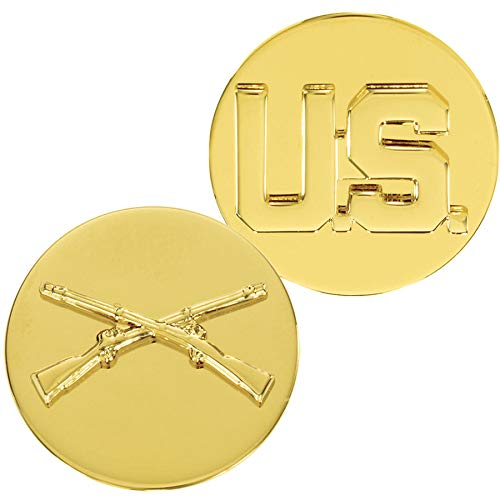 Medals of America Army Enlisted Infantry with US Insignia Gold