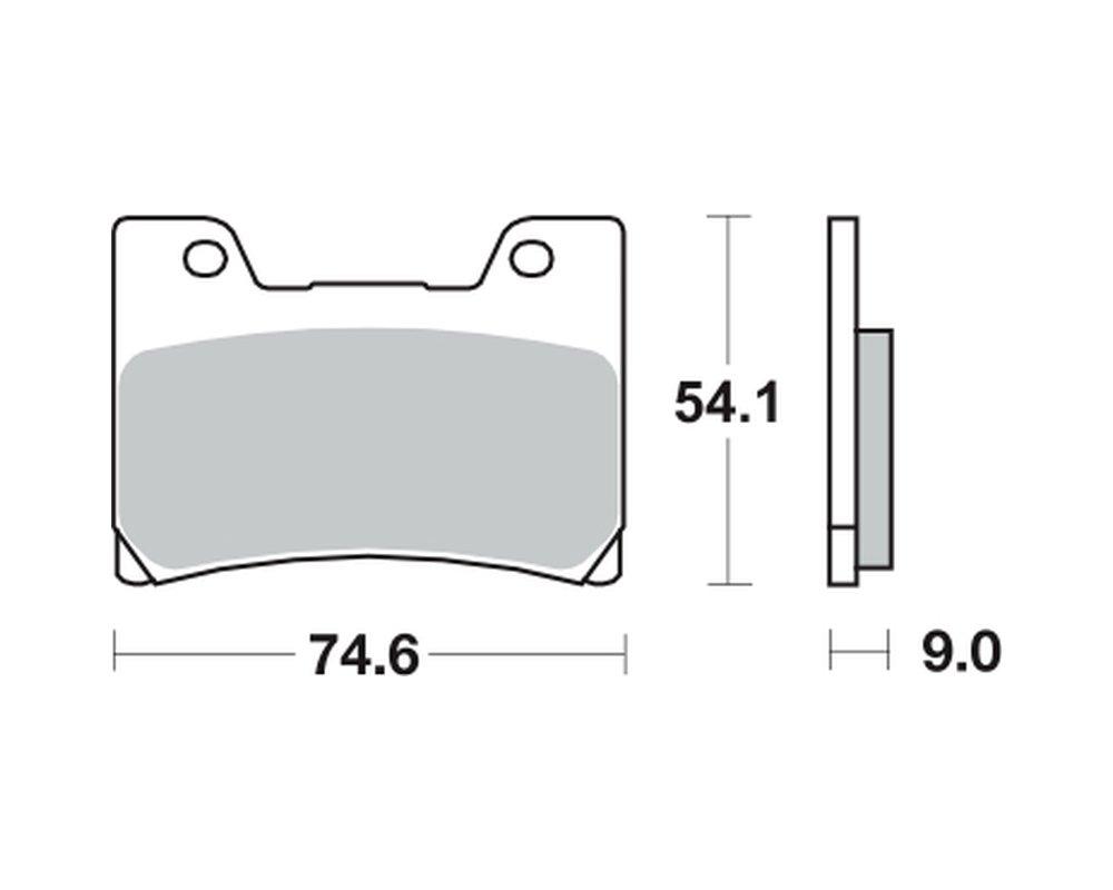 vorne Bremsbel/äge TRW MCB 622 f/ür YAMAHA VMX 1200 V-Max 2WE//2WF//2LT//2EN 93-01