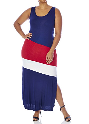 77978xr-nvy-3x-love-collection-color-block-maxi-dress-for-women-plus-size-tank-style