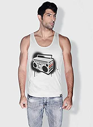 Creo Music Radio Trendy Tanks Tops For Men - M, White