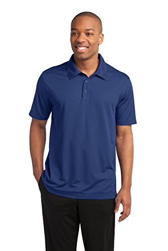 Sport-Tek Men's PosiCharge Active Textured Polo L True Royal (Textured Mesh Polo Shirt)