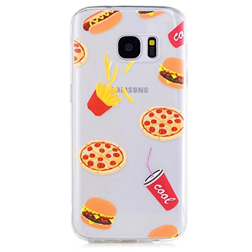 Samsung Galaxy S7 Case, KSHOP Premium Accessory Ultra Thin Transparent Clear Soft Gel TPU Silicone Case Cover Bumper Shellfor Samsung Galaxy S7-Hamburger and French fries