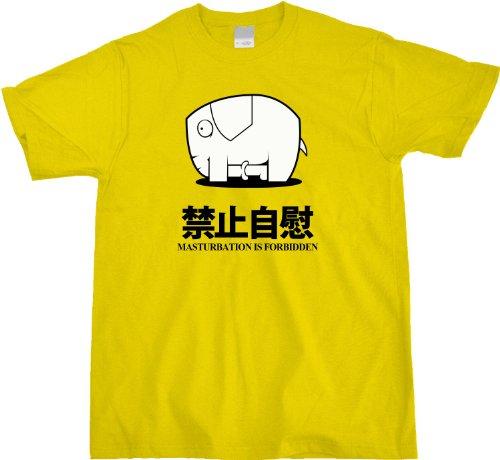 Masturbation is Forbidden Unisex T-shirt Funny Reddit Elephant Tee