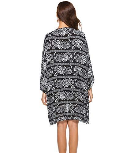 5c32e6331c ESPRELA Kimono Cardigan Boho Swimsuit Cover Up for Women Beach Bathing Suit  Cover Ups (One