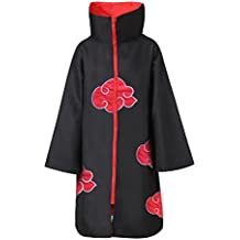 AI-Do Naruto Costume Akatsuki Style Cloak XXXLsize Plus Size [Itachi Stand Collar][Sasuke Hooded Robe]