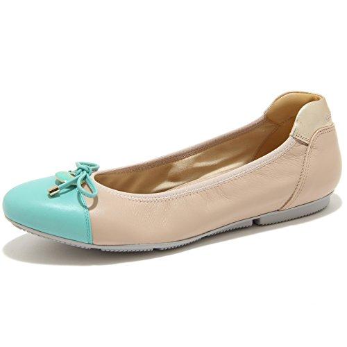 0695G ballerina beige verde HOGAN WRAP 144 CHARM ELASTICO scarpa donna shoes wom BEIGE/VERDE