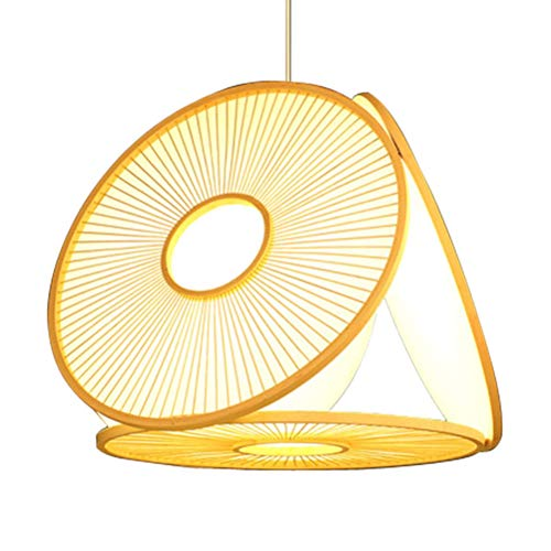 - YJJL Simple Creative Pendant Light Restaurant Tea Room Hang Lamp Chinese Bamboo Art Ceiling Light B&B Features Chandelier