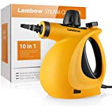 Lambow Handheld Pressurized 9 in 1 Steam Cleaner with 9-Piece Accessory Set for Bathroom, Kitchen, Surfaces, Carpet, Car Seats and Floor Steamer
