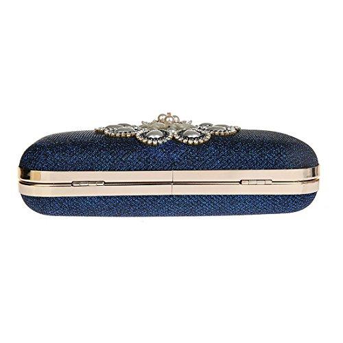 Pailletées Mariage Soirée Perles Sac Bleu KAXIDY Soirée Partie de Sacs Mariage Pochette Main à BSHnqU8x