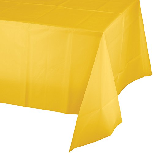 (Touch of Color Plastic Table Cover, 12-Count, School Bus Yellow)