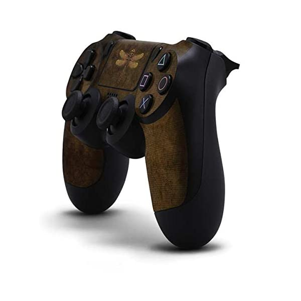 Skinit Decal Gaming Skin for PS4 Controller - Officially Licensed Tate and Co. Steampunk & Gear Dragonfly Design 4