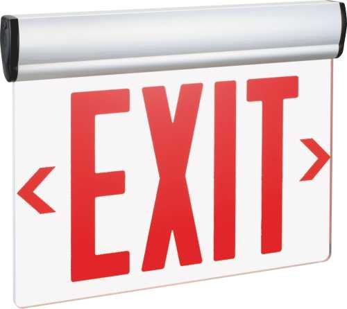 (MONUMENT 2472954 Exit Sign Double Face Mirror Surface with Red Letters, Ul Listed, Suitable For Damp Locations -)