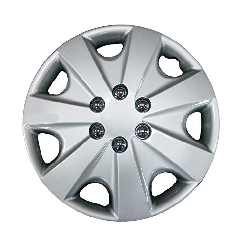 Simply SWT139P Car Wheel Cover Universal Fit Hub Caps Quick /& Easy Installation 15/'/' Box of 4 Trims High-Impact Plastic Silver