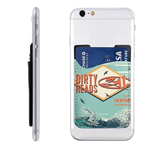 Dirty Heads Spring 2019 Phone Holder Backpack Wallet,PU 3M Adhesive Stick-on ID Credit Card Wallet Phone Case Pouch Sleeve Pocket Compatible Pocket Pocket Sleeve