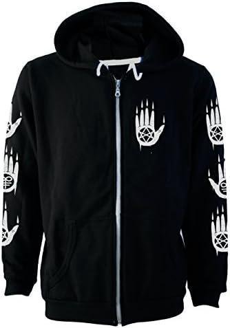 Darkside Pentagram Baphomet Fleece Hoodie Black Zip