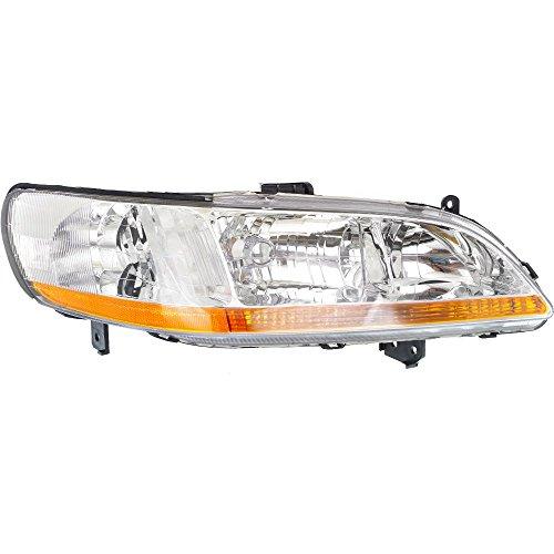 Honda Accord Rh Headlamp Light - Headlight for Honda Accord 98-00 RH Lens and Housing Coupe/Sedan Passenger Side