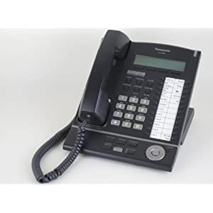 Panasonic KX-T7633-B Digital Telephone Black 3-Line LCD Proprietary Phone