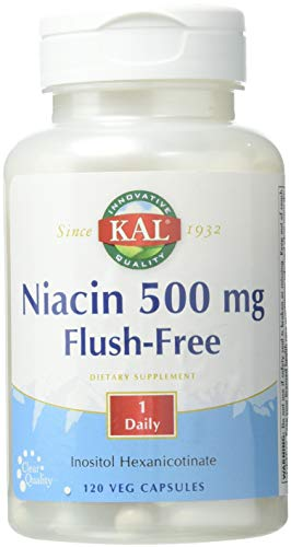 KAL Niacin Flush-Free Capsules 500 Mg, 120 Count Review