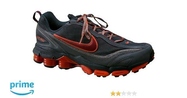 size 40 a753d 95c45 Amazon.com   Nike Shox Junga II Running Shoes Mens Size, 4.5 Youth, Deep  Ocean Tm Red Orange   Road Running