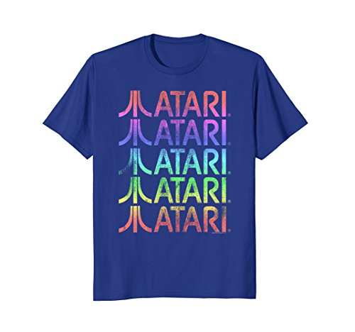 Atari Stacked Logos Vintage Gradient