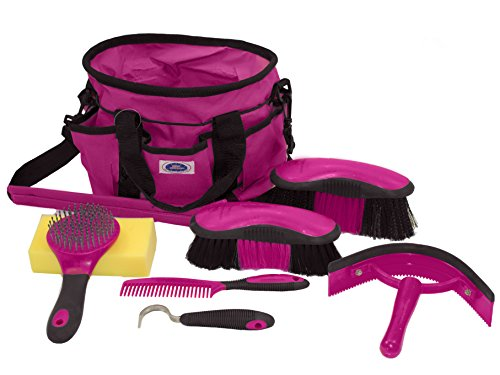 Derby New Ringside 8 Item Horse Grooming Kit Magenta at Wholesale Price